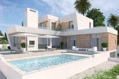 Nieuwbouw moderne vrijstaande villa (O.B.)